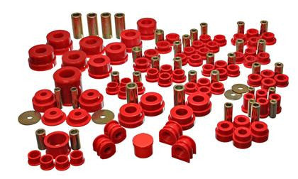 Energy Suspension 02-09 Nissan 350Z / 03-07 Infinity G35 Coupe Red Hyper-Flex Master Bushing Set