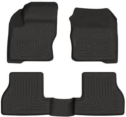 Husky Liners 2012 Ford Focus (4DR/5DR) WeatherBeater Combo Black Floor Liners
