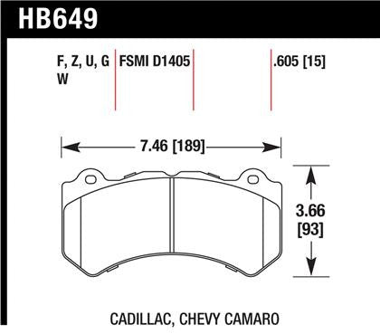Hawk Performance Ceramic Street Brake Pads