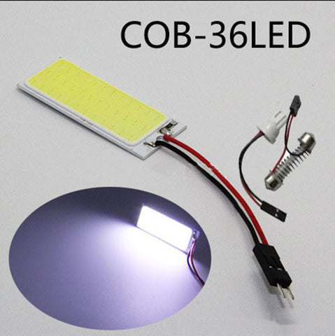cob led 36 SMD super Bright White 12v DC  Reading Lamp Car Auto Interior  Panel Light dome Bulb t10 Festoon Interface  FOR truck