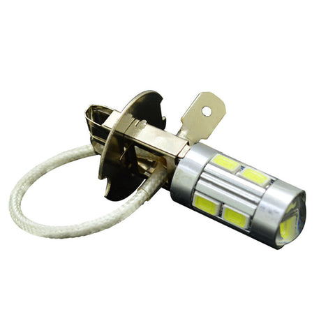 1Pcs New Arrival H3 5630 5730 LED 10 SMD Car Auto Dental lamp Fog Head Parking Signal Headlight Light Lamp Bulb 12V white