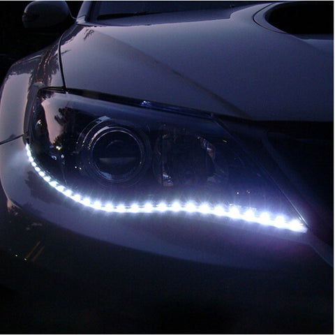 2015 New 30cm DIY Waterproof Flexible Car Light 15SMD LED DRL Daytime Running Lights Soft Strips Car Styling Decoration Lamp