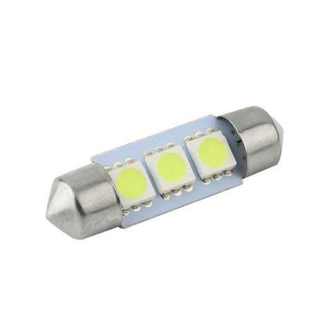 36mm Festoon Cold White 3 SMD DE3423 6418 3LED 12v Car Interior Bulb License Plate Light For BMW Audi Benz universal car