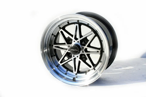 Varrstoen V2 Black-Polished Face-Polished Lip 15x8 (4x114.3 et -10)