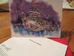 Christmas Boats — cards & prints