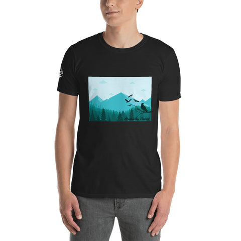 Mountain Eagle Short-Sleeve Unisex T-Shirt - Aventure Bois Overland