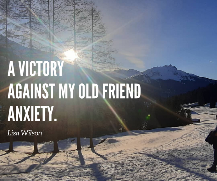"""A victory against my old friend anxiety"".  Travel Blogger Lisa Wilson shares her experience of Guided Mind Clearance"