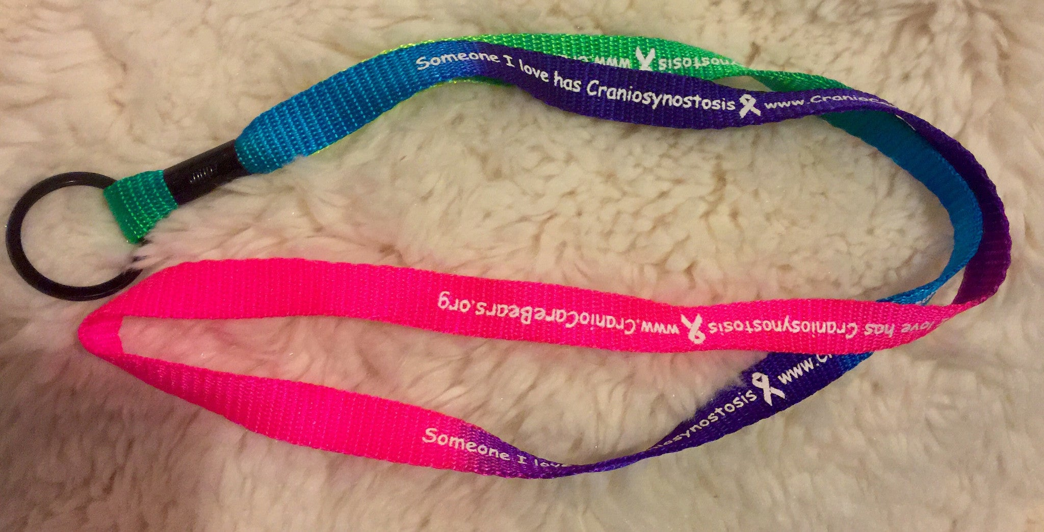 Someone I Love has Craniosynostosis Colored Lanyard