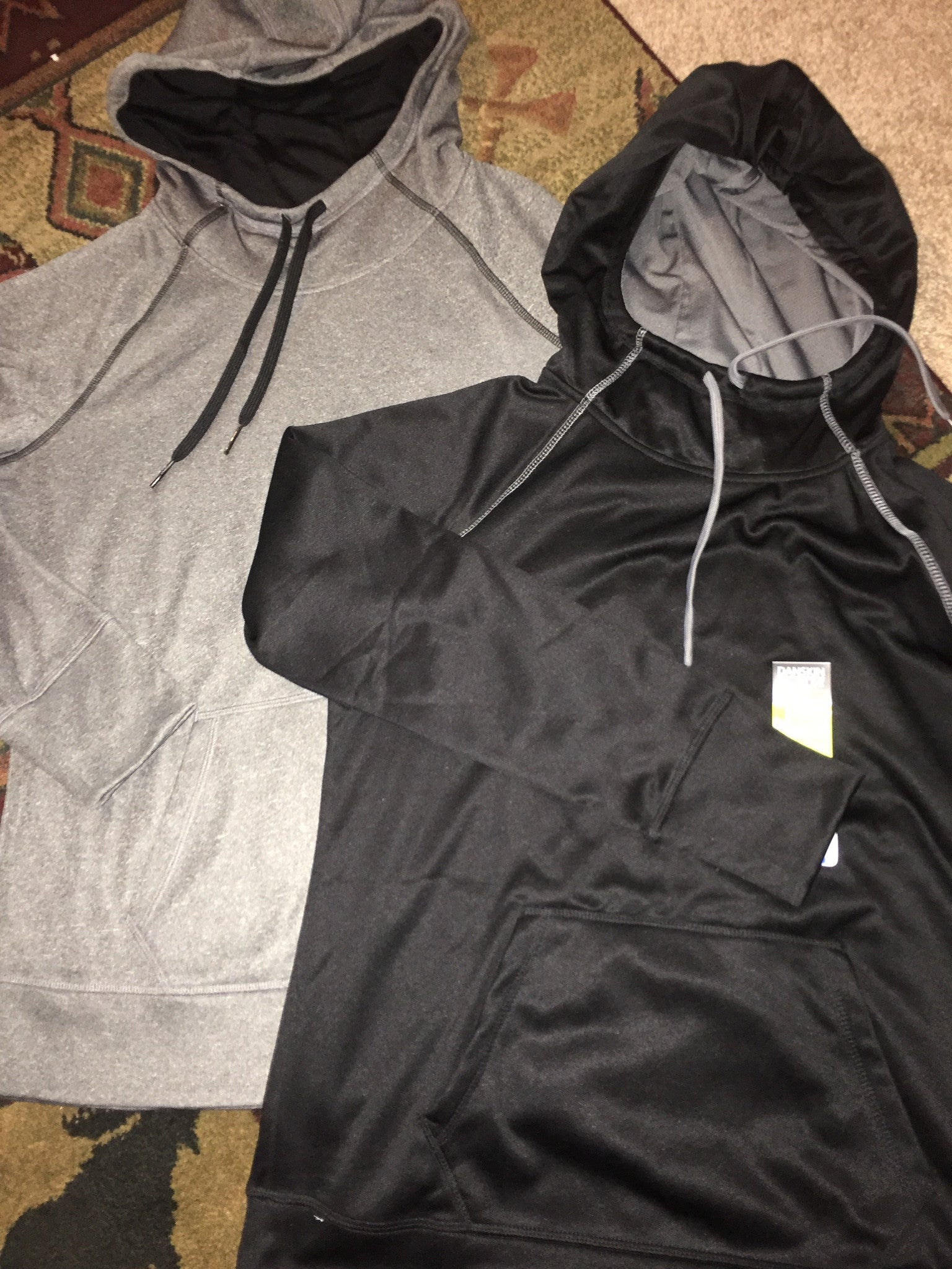 Two toned performance tech fleece hoodies - Customizeable