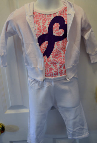 SALE-Craniosynostosis Ribbon Outfit / Onsies