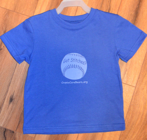 Got Stitches? Baseball Blue T-shirts
