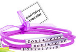 Purple Posi+ivi+y Bracelets Set of 3