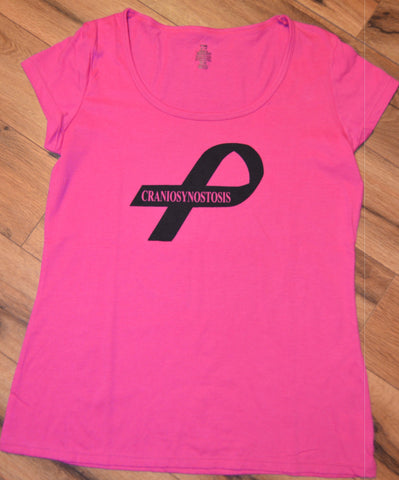 Craniosynostosis Awareness Ribbon Pink Tshirts