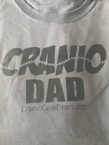 Cranio Dad T-Shirt-Charcoal Grey, Heather Grey,Blue or Black