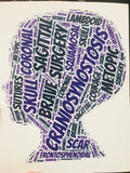 Craniosynostosis car decal(head)