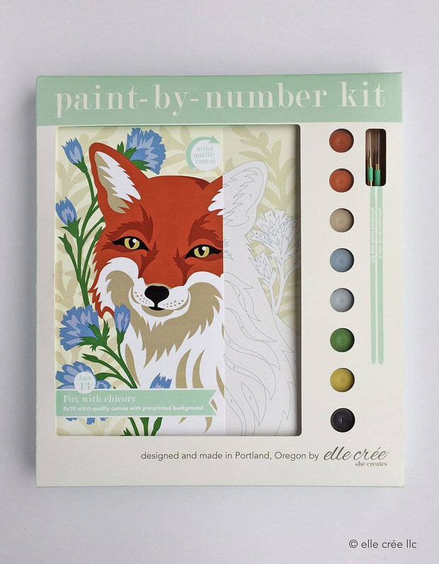 Fox with Chicory Paint-by-Number Kit