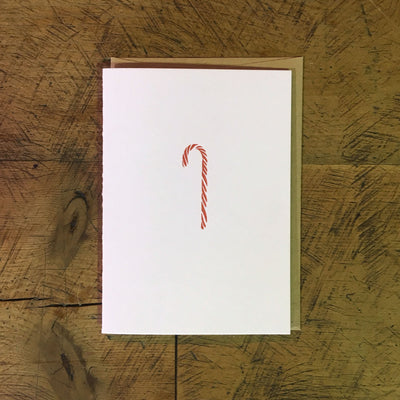 Candy Cane Holiday Letterpress Cards