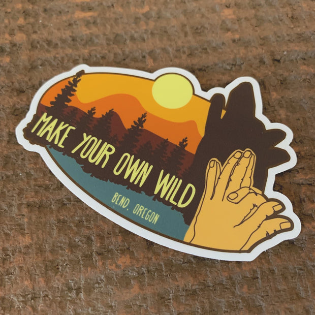 Make Your Own Wild Adventure Sticker Hand Shadows Made In Bend Oregon Sweet pea Cole