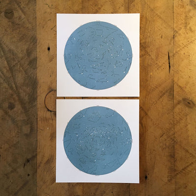 Star Map Letterpress Prints by Green Bird Press