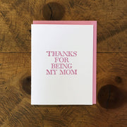 Mother's Day Letterpress Cards by Green Bird Press
