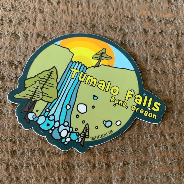 Tumalo Falls Sticker Bend Oregon Sweet Pea Cole
