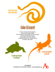 High Desert Reptiles Color & Learn Book by Abney Wallace and Dawn Boone