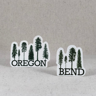 Bend Oregon Tree Stickers from Green Bird Press