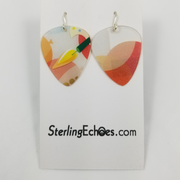 Guitar Pick Earrings by Sterling Echoes
