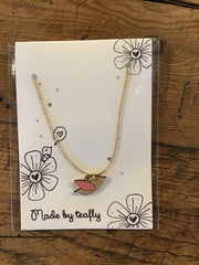 Teafly Flying Bird Necklace