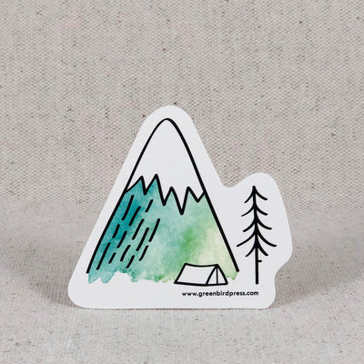Mountain Tent Camping Sticker, Bend Oregon Gifts