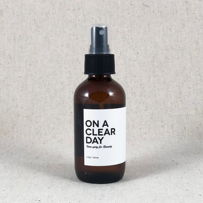 On a Clear Day. Aromatic Spray for Cleansing from Amulette Studios. Bend Oregon Room Spray Gift.