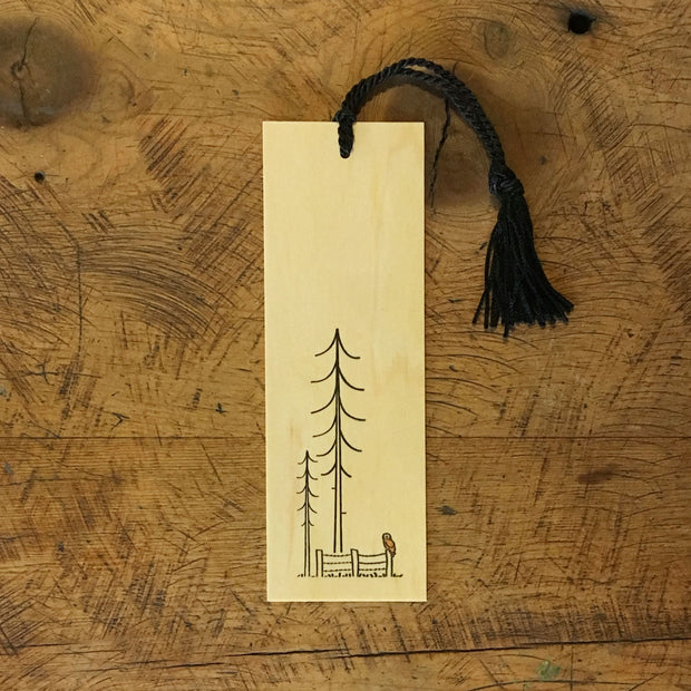 Minimal Adventure Letterpress & Watercolor Wood Bookmarks