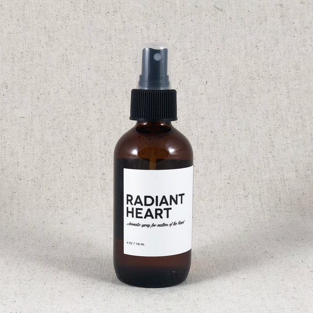 Radiant Heart. Aromatic Spray for Matters of the Heart. Amulette Studios Room Spray