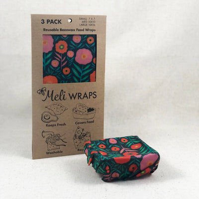 Reusable Beeswax Food Wrap from Meli Wraps, made in Bend, Oregon