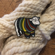 Sheep and Llama Sweater Enamel Pins