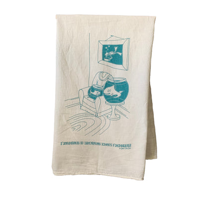 Fish in Love (L'Troupe) Tea Towel from Sweet Pea Cole, made in Bend, Oregon