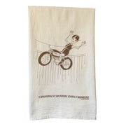 Wall of Death Motorcycle (L'Troupe) Tea Towel by Sweet Pea Cole