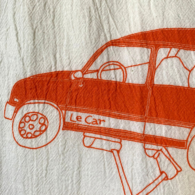 Henri's Le Car (L'Troupe) Tea Towel from Sweet Pea Cole