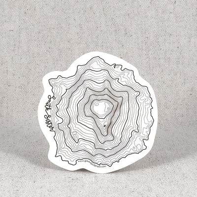 Oregon Topographic Map Stickers: Mt Bachelor, South Sister & Mt Hood