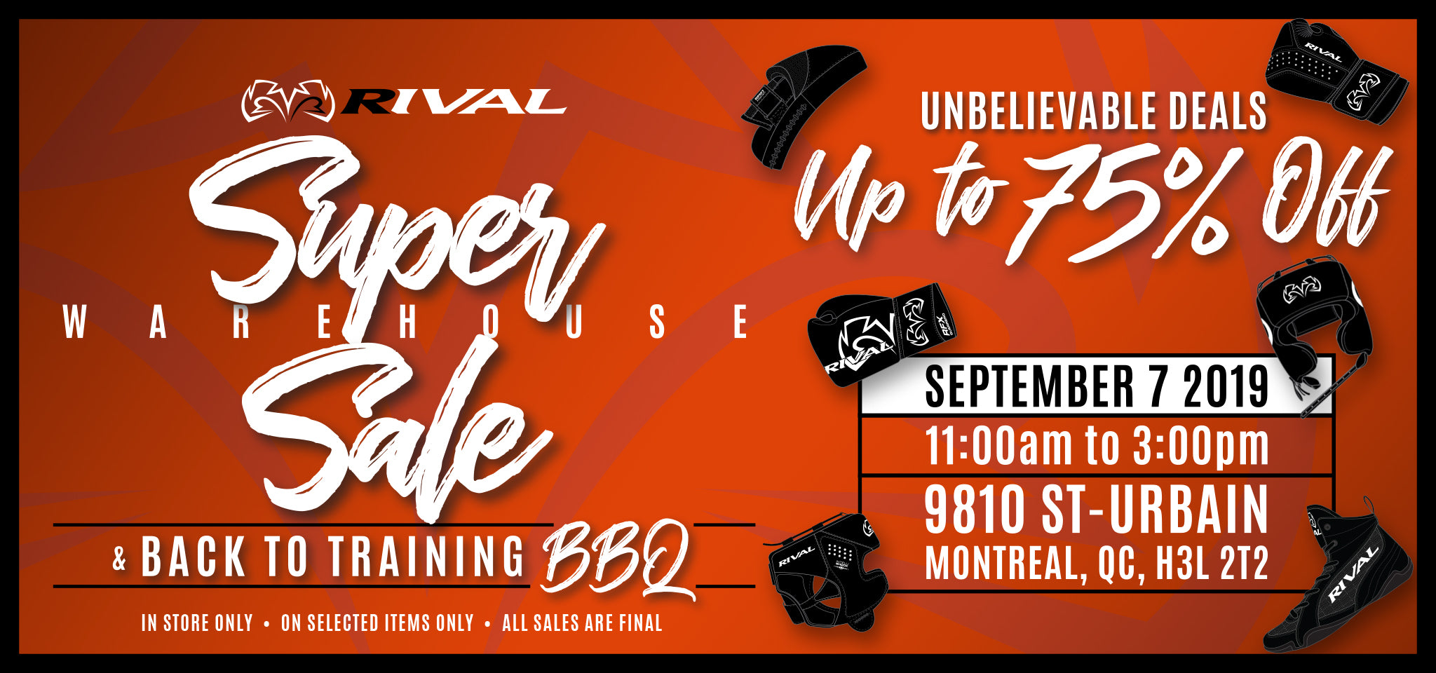 Rival Super Warehouse Sale