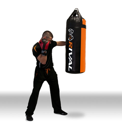 Rival 50 lbs Heavy Bag - Black & Orange