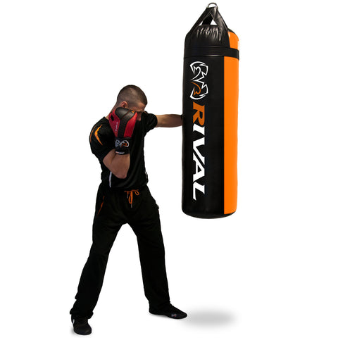 Rival 80 lbs Heavy Bag - Black & Orange