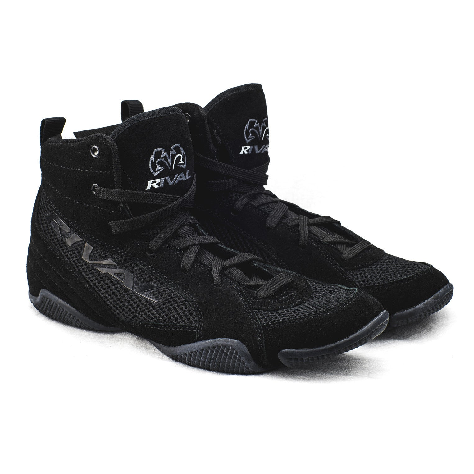 Rival RSX Speed Boxing Boots Mens Black Kids Sports Shoes Trainers