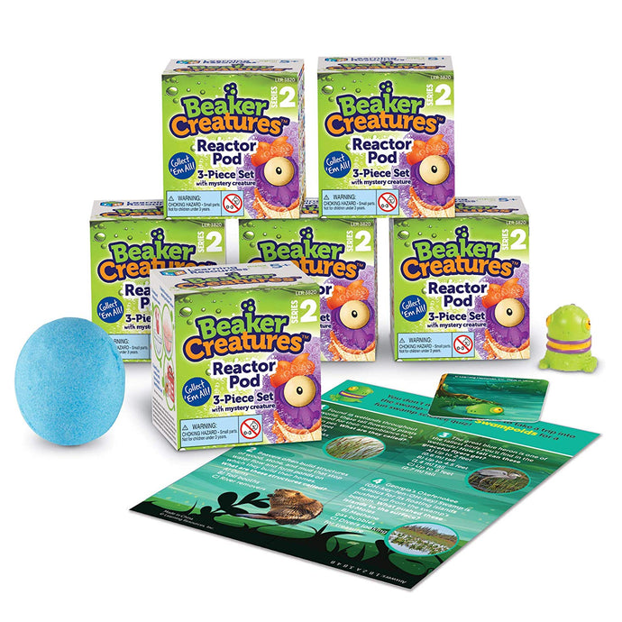 PRE-ORDER: Learning Resources Beaker Creatures Reactor Pods, Series 2, Assorted Colors (6 Pack)