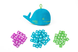 Möbi Kids - The Numerical Tile Game for Kids in a Whale Pouch with Activity Booklet