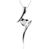 925 Sterling Silver Heart Pendant with Cubic Zirconia