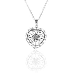 925 Sterling Silver Filigree HEART Pendant