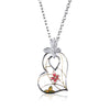 Fashion Enamel Heart Necklace with Long Chain