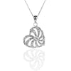925 Sterling Silver HEART Pendant Necklace with CZ