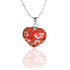 Sterling Silver Red Resin HEART Pendant Necklace
